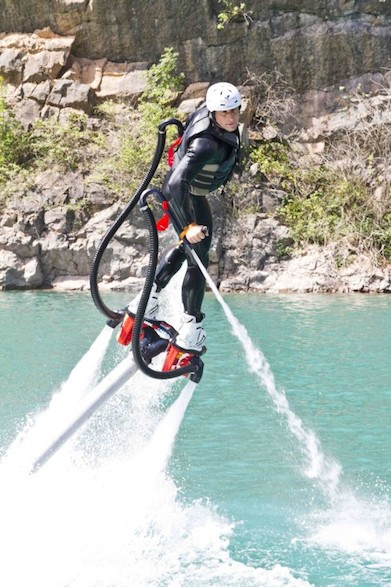 Flyboarding in Chepstow Gloucestershire